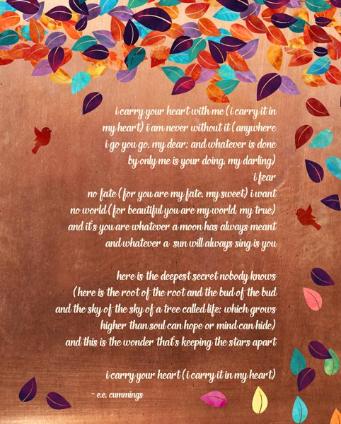 Set Of 2 Seven Year Faux Copper Wedding Vows Poem