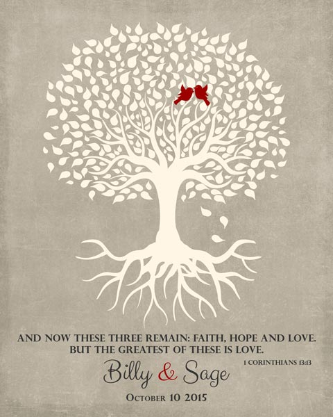 Wedding Tree Roots Love Birds Tree Of Life Corinthians