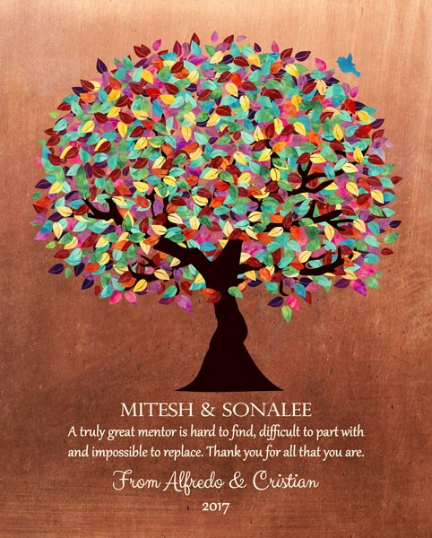 Thank You Mentor Faux Copper Background