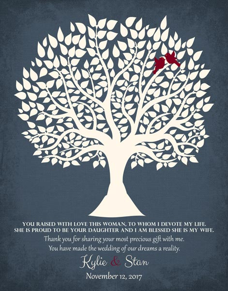 Thank You To The Mother Of The Groom Family Tree Wedding Gift