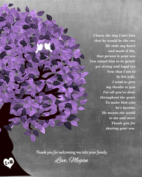 Mother Of Groom Thank You Bride Parents Wedding Day Gift