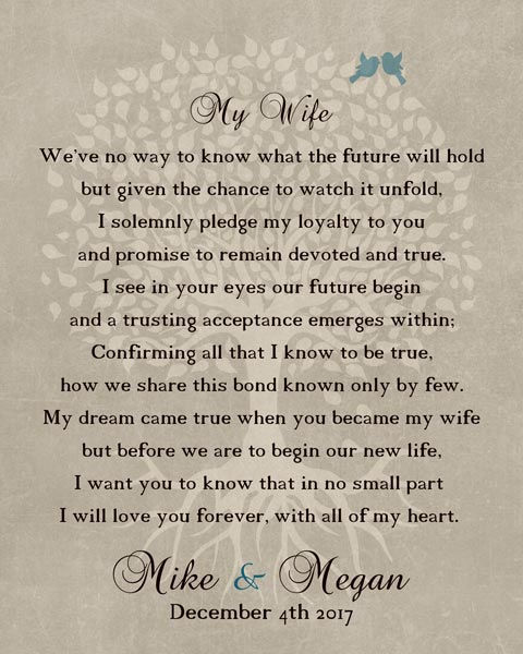 Thank You For Wife At Wedding Love Poem