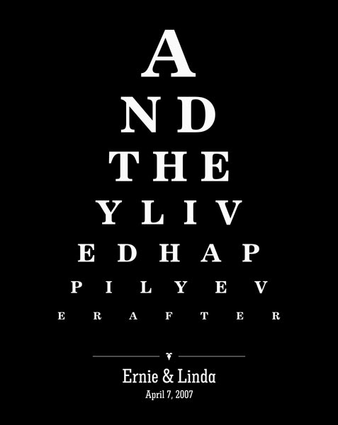 Couple Design Eye Chart