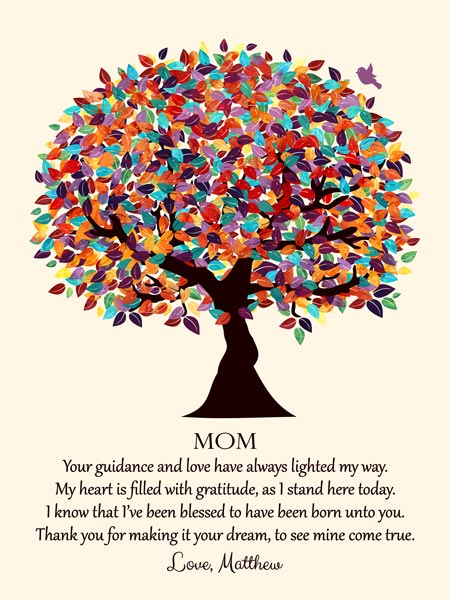 Canvas Poem Gift for Mom